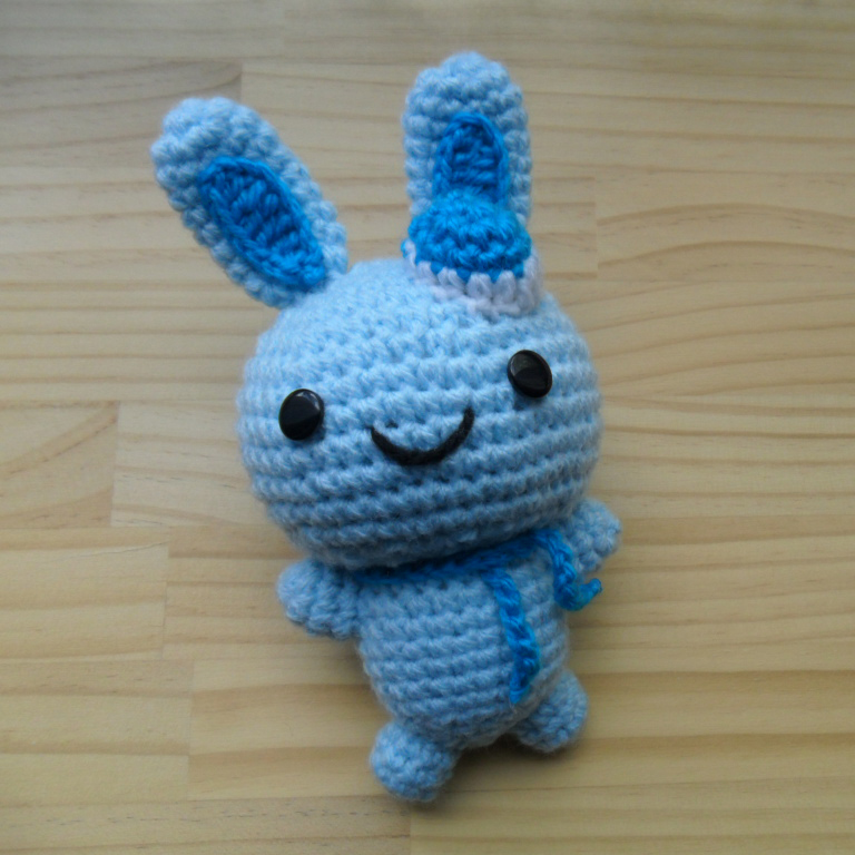 Amigurumi doll, crochet toy - blue bunny